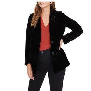 Madewell black Velvet Dorset Blazer XL